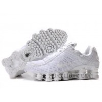 Men's Nike Shox TL Shoes All White Cheap To Buy
