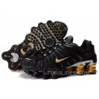 Men's Nike Shox TL Shoes Black/Gold/Silver New Release