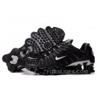 Men's Nike Shox TL Shoes Black/Silver For Sale 344438