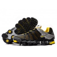 Men's Nike Shox TL Shoes Black/Yellow/Silver Authentic