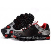 Women's Nike Shox TL Shoes Black/Silver/Red For Sale