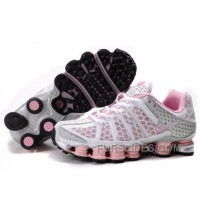 Women's Nike Shox TL Shoes White/Light Pink/Silver Super Deals 344466