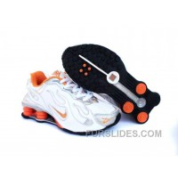 Kid's Nike Shox Torch Shoes White/Grey/Orange Top Deals