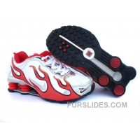 Kid's Nike Shox Torch Shoes White/Gym Red/Grey Discount