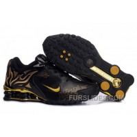 Men's Nike Shox Torch Shoes Black/Gold/Brilliant Gold Super Deals