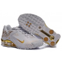 Women's Nike Shox Torch Shoes White/Gold/Brilliant Gold Lastest