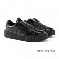 Mens PUMA BY RIHANNA CREEPER CRACKED LEATHER Puma Black-Puma Black-Puma Black Discount