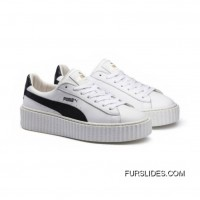 Mens PUMA BY RIHANNA CREEPER WHITE LEATHER Puma White-Puma Black-Puma White Online