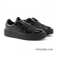 PUMA BY RIHANNA CREEPER CRACKED LEATHER Puma Black-Puma Black-Puma Black Top Deals