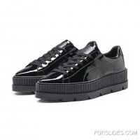 FENTY MENS POINTY CREEPER PATENT Puma Black New Release