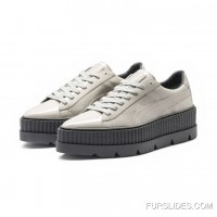 FENTY MENS POINTY CREEPER PATENT Puma Dove-Glacier Gray New Style