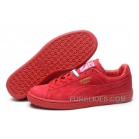 Puma Rihanna Suede Creepers 1608 Women Men Red Authentic KNThPT