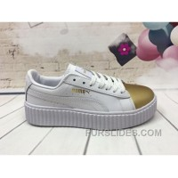 Puma X Rihanna WMNS Creeper White Metallic Gold Women/men Cheap To Buy 6cwGXpJ