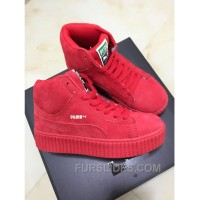 For Sale Puma X Rihanna WMNS Creeper Wheat Gum Red Women WsWerN