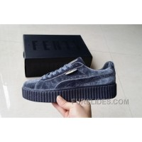 Puma By Rihanna Suede Creepers Grey New Release