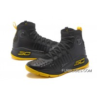 Under Armour Curry 4 Basketball Shoes Black Yellow Online