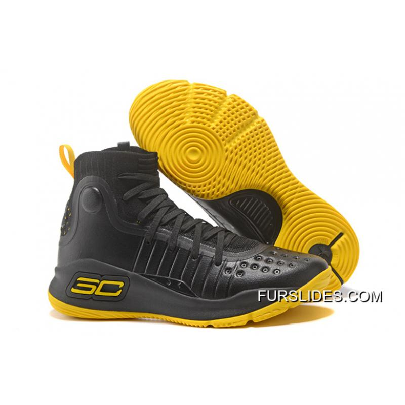new concept 187b2 bff7a Under Armour Curry 4 Basketball Shoes Black Yellow Online