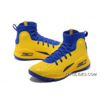 Under Armour Curry 4 Basketball Shoes Yellow Blue Cheap To Buy