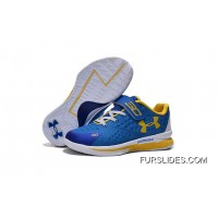 Under Armour Kids Blue White Shoes Cheap To Buy