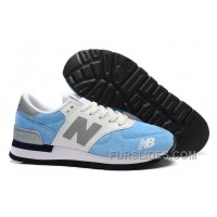 Authentic New Balance 990 Women Blue White 8fJHEe8