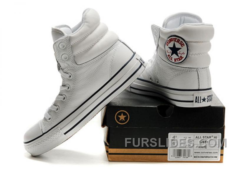 d88f2360245082 White Embroidery CONVERSE Padded Collar Chuck Taylor All Star Leather  Winter Boots Online