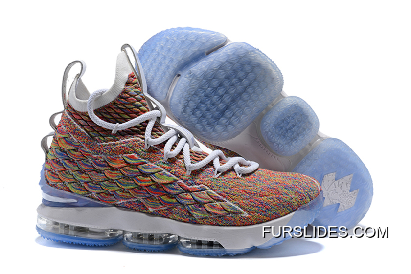 "690899929e6e Free Shipping Men s Nike LeBron 15 ""Fruity Pebbles"" White Multi-Color 897648"