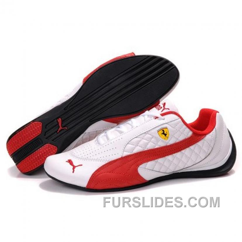 Women's Puma SF Pace Cat II In White-Red Free Shipping WpCzCH